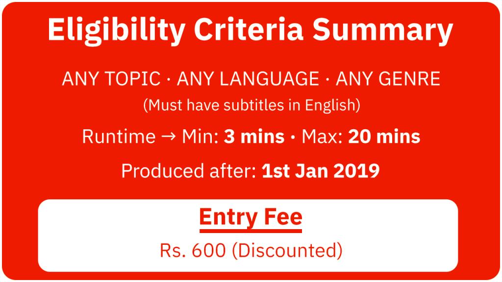 Filmingo 2020 Eligibility Criteria